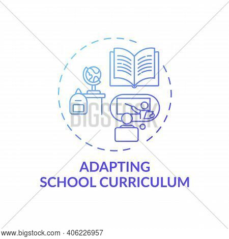 Adapting School Curriculum Concept Icon. Online Teaching Tips. Dynamic Process That Modifies Guides