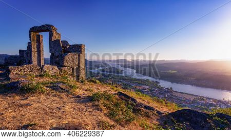 Framing The View From Mirador Da Porta Overlook In Portugal