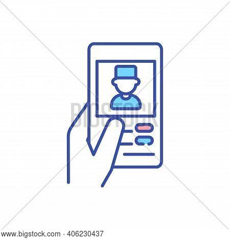 Mobile Medicine Rgb Color Icon. E-prescribing Medication. Online Consultation With Doctor. Virtual A