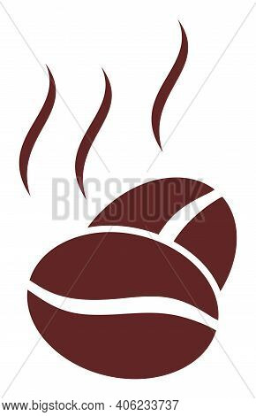 Cacao Aroma Icon With Flat Style. Isolated Raster Cacao Aroma Icon Image, Simple Style.