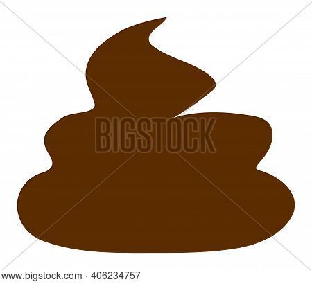 Shit Icon With Flat Style. Isolated Raster Shit Icon Image, Simple Style.