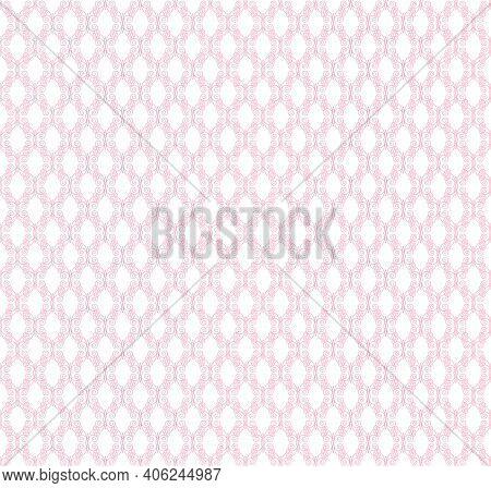 Pink Openwork Pattern On A White Background