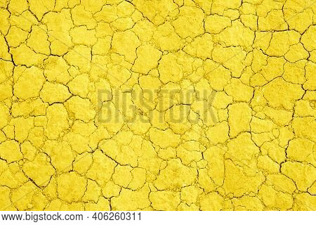 Grey Dried And Cracked Ground Earth Background. Close Up Of Dry Ground, Cracked Texture.