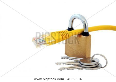 Network Cable, Lock And Keys