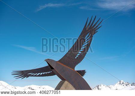 El Tarter, Andorra : 2021 Febraury 2 : Statues In Commemoration Of The 2016 Alpine Ski World Cup In