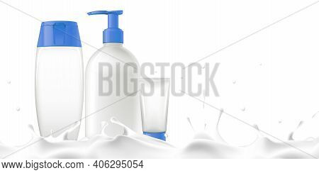 Product Tube Product Mockup Milk Serum Skin Cream Lotion Beauty Product Advertisement Milk Water Mil