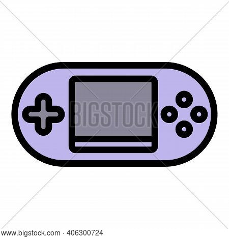 Portable Game Console Joystick Icon. Outline Portable Game Console Joystick Vector Icon For Web Desi