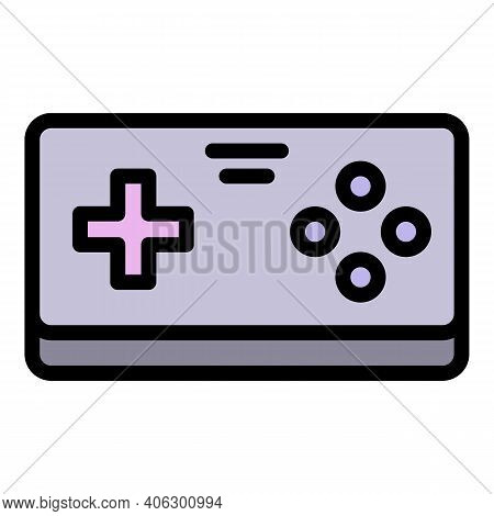 Videogame Joystick Icon. Outline Videogame Joystick Vector Icon For Web Design Isolated On White Bac