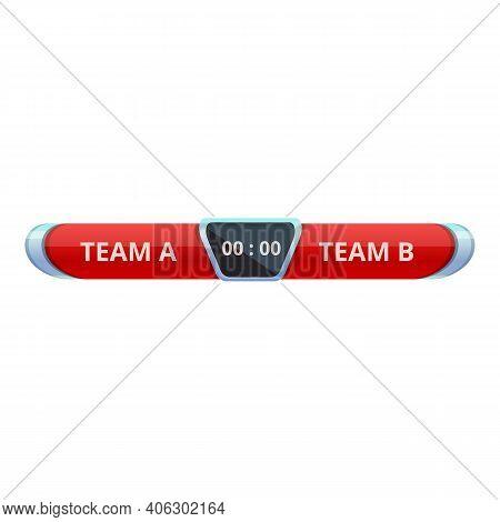 Football Scoreboard Icon. Cartoon Of Football Scoreboard Vector Icon For Web Design Isolated On Whit
