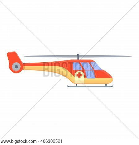 Guard Rescue Helicopter Icon. Cartoon Of Guard Rescue Helicopter Vector Icon For Web Design Isolated