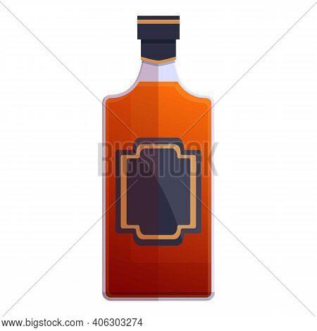 Bourbon Distillery Bottle Icon. Cartoon Of Bourbon Distillery Bottle Vector Icon For Web Design Isol