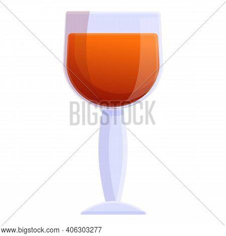 Bourbon Distillery Glass Icon. Cartoon Of Bourbon Distillery Glass Vector Icon For Web Design Isolat