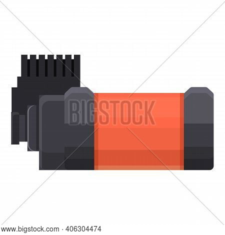 Pneumatic Compressor Icon. Cartoon Of Pneumatic Compressor Vector Icon For Web Design Isolated On Wh