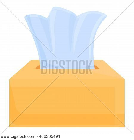 Tissue Carton Pack Icon. Cartoon Of Tissue Carton Pack Vector Icon For Web Design Isolated On White