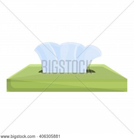 Disposable Tissue Icon. Cartoon Of Disposable Tissue Vector Icon For Web Design Isolated On White Ba