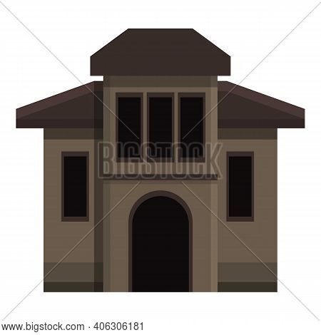 Creepy House Icon. Cartoon Of Creepy House Vector Icon For Web Design Isolated On White Background