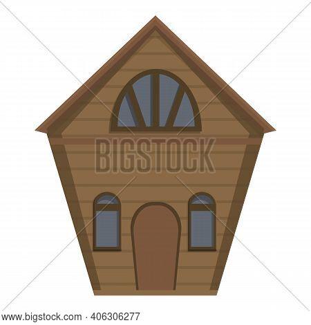 Door Creepy House Icon. Cartoon Of Door Creepy House Vector Icon For Web Design Isolated On White Ba