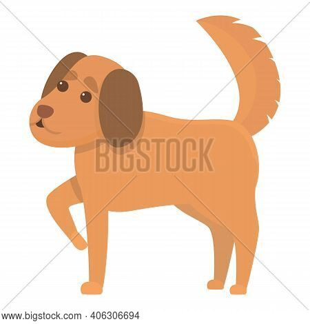 Home Playful Dog Icon. Cartoon Of Home Playful Dog Vector Icon For Web Design Isolated On White Back