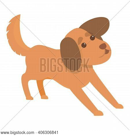Playful Dog Canine Icon. Cartoon Of Playful Dog Canine Vector Icon For Web Design Isolated On White