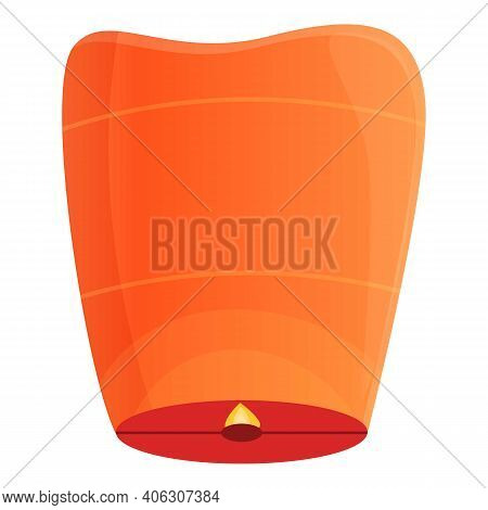Tradition Floating Lantern Icon. Cartoon Of Tradition Floating Lantern Vector Icon For Web Design Is