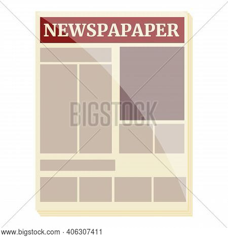 Magazine Newspaper Icon. Cartoon Of Magazine Newspaper Vector Icon For Web Design Isolated On White
