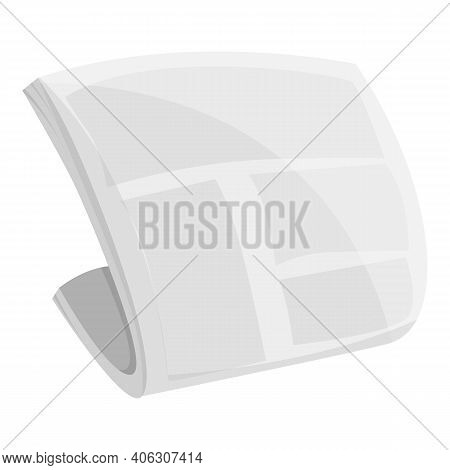 Pile Newspaper Icon. Cartoon Of Pile Newspaper Vector Icon For Web Design Isolated On White Backgrou