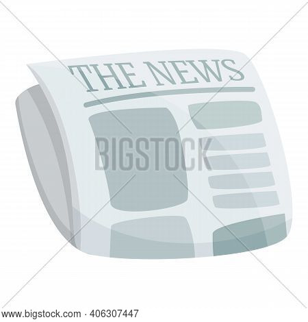 Article Newspaper Icon. Cartoon Of Article Newspaper Vector Icon For Web Design Isolated On White Ba