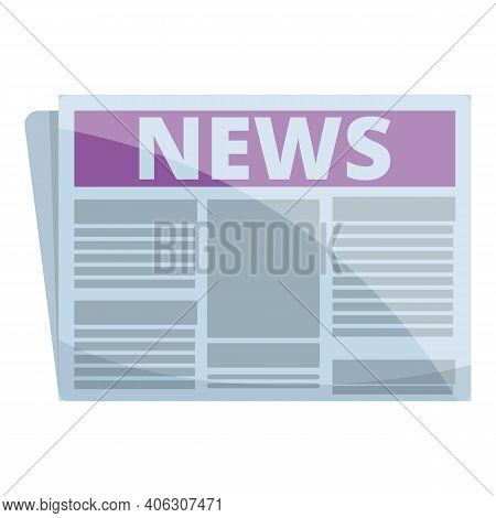 Information Newspaper Icon. Cartoon Of Information Newspaper Vector Icon For Web Design Isolated On