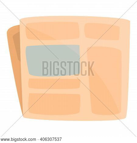 Fold Newspaper Icon. Cartoon Of Fold Newspaper Vector Icon For Web Design Isolated On White Backgrou