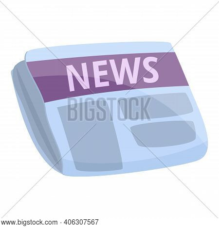 Tabloid Newspaper Icon. Cartoon Of Tabloid Newspaper Vector Icon For Web Design Isolated On White Ba