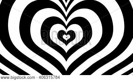 Black Heart With Dynamic Effects, Sign And Symbol Of Love , Show Your Love For Valentine's, Wedding,