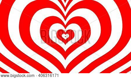 Red Heart With Illusion Effects, Sign And Symbol Of Love , Show Your Love For Valentine's, Wedding,