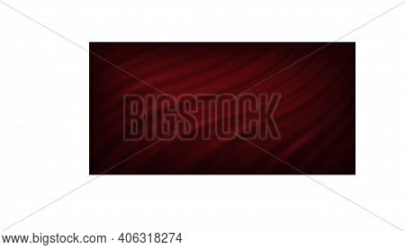 Red Luxury Velvet Or Silk Curtains. 3d Drapery Cloth In Folds Vector Illustration. Realistic Satin C
