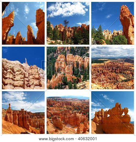 Bryce Canyon Collage