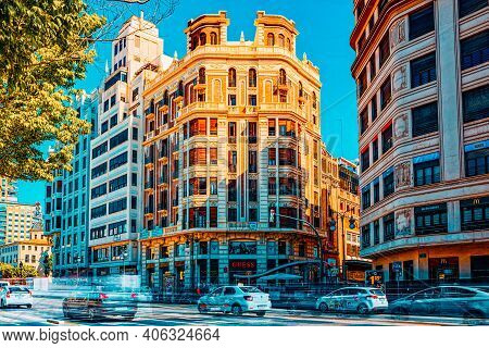 Modernism Street Of The  Of Valencia, Third City By Population I