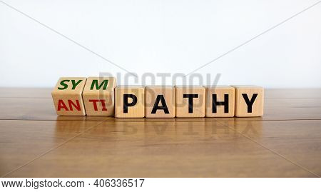 From Antipathy To Sympathy. Turned Cubes And Changed The Word 'antipathy' To 'sympathy'. Beautiful W