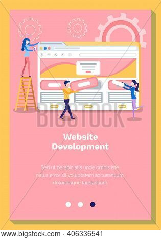 Online Planning, Internet Business Store. Site Landing Page Template. Website And Mobile Development