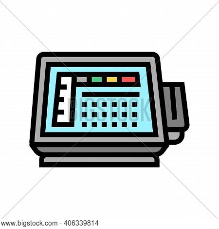 Self Service Pos Terminal Color Icon Vector. Self Service Pos Terminal Sign. Isolated Symbol Illustr