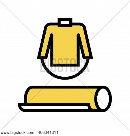 Clothing Textile Fabric Color Icon Vector. Clothing Textile Fabric Sign. Isolated Symbol Illustratio