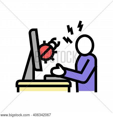 Sysadmin Fixing Debug Color Icon Vector. Sysadmin Fixing Debug Sign. Isolated Symbol Illustration