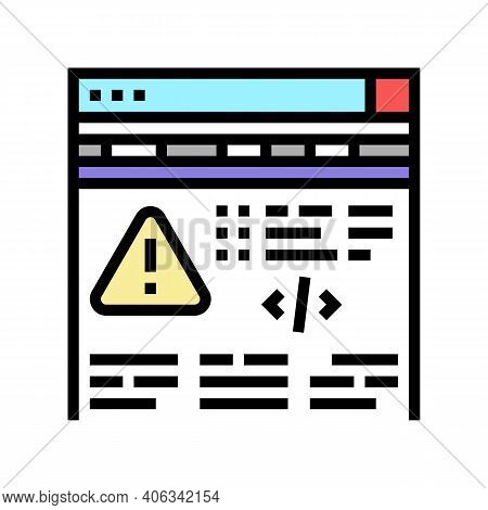 Fixing Program Errors Color Icon Vector. Fixing Program Errors Sign. Isolated Symbol Illustration