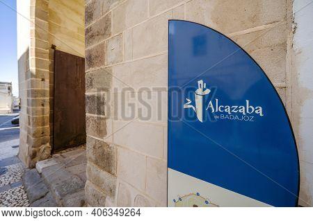 Entrance To Moorish Fortification Called Alcazaba De Badajoz