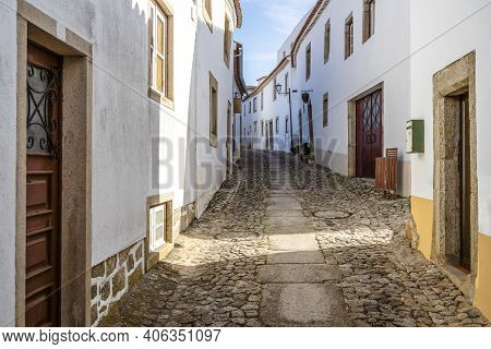 Charming Street Of Historic Marvao, Alentejo, Portugal