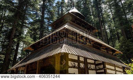 A View Of Hidimba Devi Temple Located In Manali