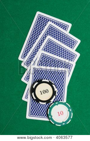 Playing Cards From Back