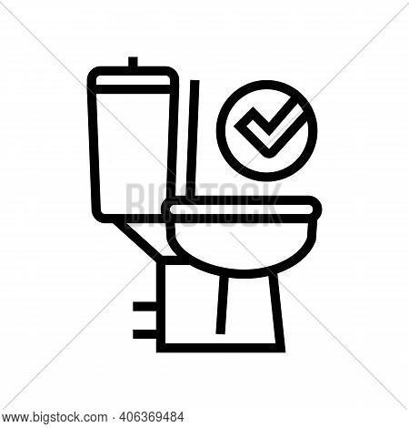 Good Bowel Movement, Restroom Toilet Line Icon Vector. Good Bowel Movement, Restroom Toilet Sign. Is