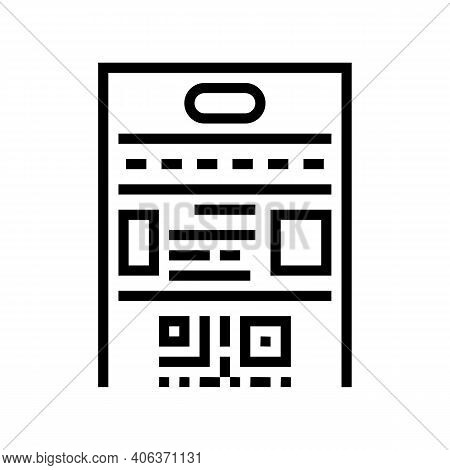 Rules Lotto Line Icon Vector. Rules Lotto Sign. Isolated Contour Symbol Black Illustration