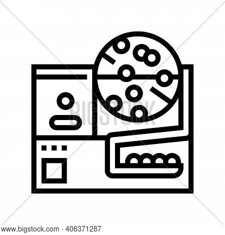 Fortune Wheel Lotto Line Icon Vector. Fortune Wheel Lotto Sign. Isolated Contour Symbol Black Illust