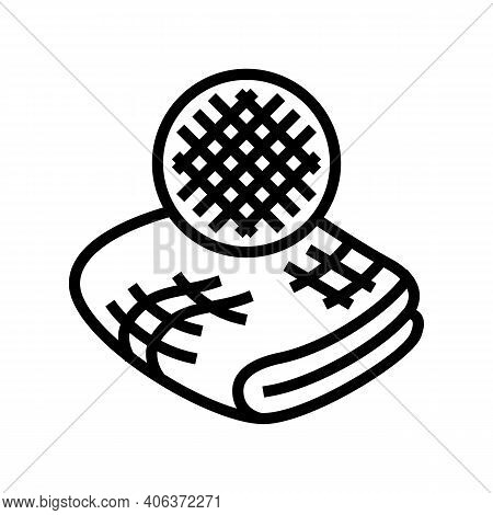 Linen Fabric Line Icon Vector. Linen Fabric Sign. Isolated Contour Symbol Black Illustration