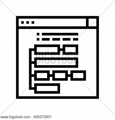 Program Hierarchy Line Icon Vector. Program Hierarchy Sign. Isolated Contour Symbol Black Illustrati